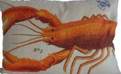 Orange Lobster Pillow