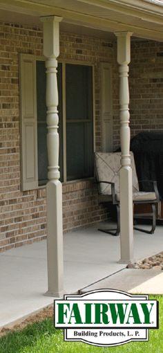 ideas vinyl home wraps post design porch posts
