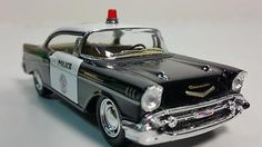 Kinsmart-LAPD-1957-Chevy-Bel-Air-Police-Squad-Car-1-40-O-Scale-5-Diecast