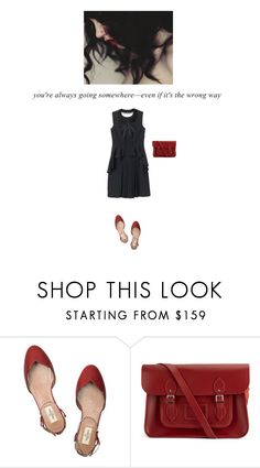 """""""1030. Journeys"""" by dreamingofamelia ❤ liked on Polyvore featuring Prada, Valentino, The Cambridge Satchel Company and Dorothy Perkins"""