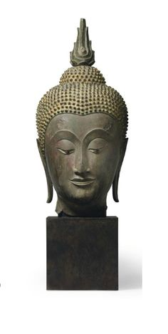 A bronze head of Buddha  - THAILAND, AYUTTHAYA, 15TH/16TH CENTURY | Christie's