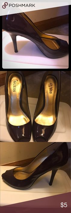 Purple Guess Heels Beautiful purple heels. Super classy and perfect for any outfit! Guess Shoes Heels