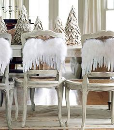 Ideas para decorar las sillas en navidad