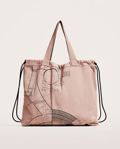 Image 1 of COVERTIBLE FABRIC TOTE BAG from Zara