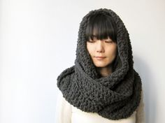 Super Long Infinite Scarf in Grey - Ready to Ship ($50-100)