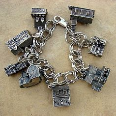 CharmChatter Vintage Charms and Charm Bracelets Vintage Charm Bracelet, Sterling Silver Charm Bracelet, Charm Jewelry, Silver Charms, Silver Earrings, Pandora Jewelry, Diy Jewelry, Silver Ring, Antique Jewelry