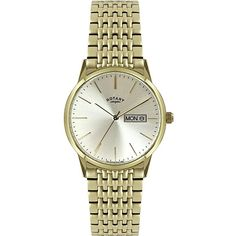 An elegant simplistic two tone gold bracelet watch from Rotary. Features a Quartz movement, gold batons and a day and date window. Rotary Watches, Seiko Watches, Gold Plated Bracelets, Metal Bracelets, Ice Watch, Watches Online, Gold Watch, Bracelet Watch, Watches For Men