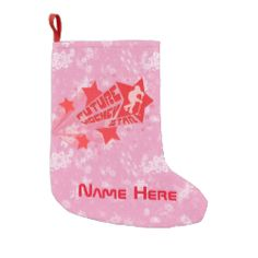Add Name To Future Hockey Star Christmas Stocking Small Christmas Stocking. Custom made #hockey Christmas stocking. Check my store: http://www.zazzle.com/gamefacegear*/  for many more seasonal products. #ChristmasStocking