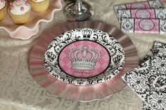 35 Best Black And White Princess Damask Party Ideas Images Girl