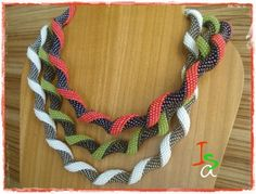 Twisted Peyote Spiral necklace by ISA (isaperlesbois), from a pattern by Aleta Ford Baker