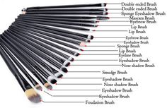 Pro makeup Brushes Set Powder Foundation Eyeshadow Eyeliner Lip Brush tool - man a deal Eye Makeup Brushes, It Cosmetics Brushes, Makeup Tools, Makeup Cosmetics, Makeup Products, Cosmetic Brush Set, Cosmetic Sets, Body Makeup, Makeup Brush Set