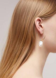 9221b87d63d1 Céline Baroque hoops Celine Earrings, Pearl Earrings, Hoop Earrings, Diy  Jewelry, Jewelry