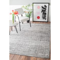 nuLOOM Contemporary Waves Solid Grey Rug (5' x 8') | Overstock.com Shopping - The Best Deals on 5x8 - 6x9 Rugs