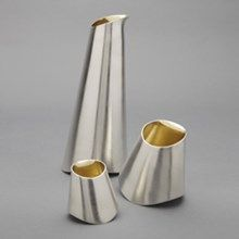 Simon Pattison Silver Jug and Beakers