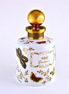 140: 1955 Guerlain Ode Opaline Perfume Bottle : Lot 140