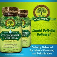 Well Roots Colon Cleanse & Liver Detox 120 Liquid Softgels