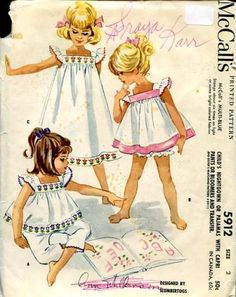 M5912 Slumber Togs 196_.....I wish I knew had to sew!!!