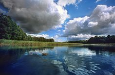 Mazury Summer Clouds No 1 by Martin Liebermann Small Lake, Lake District, Places To See, National Parks, Scenery, Clouds, Summer, Pictures, 1 Image