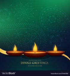 Amazing happy diwali festival greeting background vector image on VectorStock Happy Diwali Cards, Diwali Greeting Cards, Diwali Greetings, Diwali Wishes, Diwali Poster, Happy Diwali Wallpapers, Diwali Message, Lord Shiva Hd Wallpaper, Diwali Images