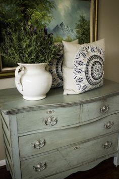 Chalk Painted American Oak Chest Circa 1890-1910 | Portilla Design