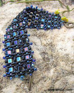 Czech SuperDuo  two-hole beads, Czech  fire polished beads, Miyuki drops, Miyuki Tila beads, Miyuki round seed beads 8/0, 11/0,15/0,  Toggle...