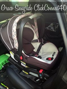 #Graco Snugride ClickConnect40, the only infant car seat on the market designed to protect babies 4-40lbs in the rear-facing position. A #GracoSafety review.