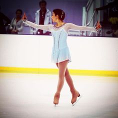 💕Beautiful Madelyn in her latest custom made dress! The dusty turqoise color to light grey ombre', was carefully created by mixing colors and airbrushing. It's decorated with popping Ruby and Siam Swarovski crystals - Gorgeous!! 💕 #costumedesigner #lisamckinnon #custommade #skating #skatingdress #japanese #costume #ruby #swarovski #crystals #airbrush