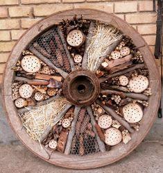 Design Inspiration, Wood, Gardens, Insect Hotel, Permaculture Garden, Garden Landscaping, Home And Garden, Crafting, Rustic Garden Decor