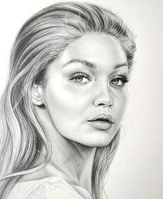 Gigi Hadid drawing ✏ #pencildrawing #pencil #gigihadid @gigihadid Tag her please!
