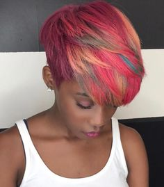 Fun colors by @msklarie - https://blackhairinformation.com/hairstyle-gallery/fun-colors-by/