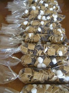 s'mores trail mix, party food, diy