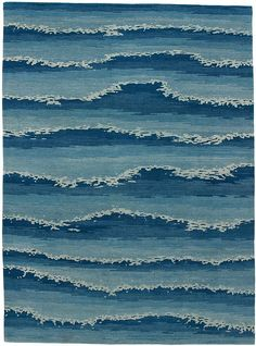 Cape Cod Ocean . area rug in himalayan wool