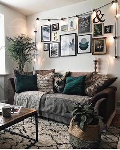 """Mel Boyden on Instagram: """"We've got a lot of focal points in our living room, from our gallery wall, to the botanical print and our fireplace (which we still haven't…"""""""