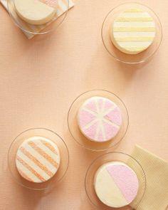 Stenciled Sparkle Cakes Recipe