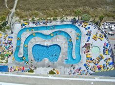 Overhead view of a lazy river in North Myrtle Beach