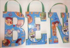 Toy story wall letters