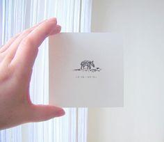 Tapir Baby  Tiny Art Print  4x4 miniature sweet by mallalu on Etsy