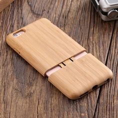 Natural Real Wooden Case For iphone 6 6S / 6Plus 6S Plus 2 In 1 Removable Combo Back Cover True Unique Bamboo Fundas For iphone6