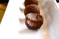 Thin Mint Truffles by thehungryhousewife: Just Thin Mints and cream cheese! #Truffles #thehungryhousewife #Thin_Mints