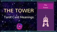 Tower Tarot Card Meanings The Tower Tarot Card, Free Tarot, Tarot Card Meanings, Meaningful Life, Major Arcana, Tarot Cards, Meant To Be, Videos, Tarot