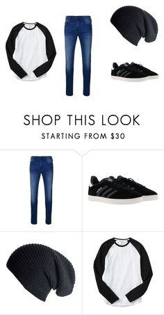 """""""Skater Boy style"""" by krazyykindkarina ❤ liked on Polyvore featuring True Religion, adidas, Black, Gap, men's fashion and menswear"""