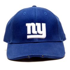 NFL New York Giants Dual LED Headlight Adjustable Hat by Lightwear. $20.17. Powerful LEDs provide ultra-bright light. Comfortable, durable 100 Percent cotton fabric with high quality raised embroidery logo; Team graphics on velcro closure. Ideal Sports Fan Gift. Batteries Included Free. Officially Licensed by NFL. 100% cotton. The ultimate hands-Free flashlight. This stylish, useful cap provides just the right amount of light exactly where you're looking, leaving your ha...