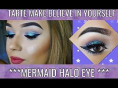 MERMAID HALO EYE (TARTE MAKE BELIEVE IN YOURSELF PALETTE) - YouTube