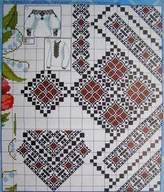 Folk Embroidery, Shirt Embroidery, Hand Embroidery Stitches, Cross Stitch Embroidery, Embroidery Patterns, Needlepoint Patterns, Tatting Patterns, Cross Stitch Patterns, Bordado Popular