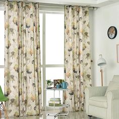 These floral drapes are watercolor art patterned curtains, suit for sitting room, bedroom, kids room and more. The material is cotton linen curtain fabric. Headers & sizes can be customized. Leaf Curtains, Floral Curtains, Rustic Curtains, Linen Curtains, Patterned Curtains, Curtain Fabric, Decorative Curtains, Nursery Curtains, Curtains Living