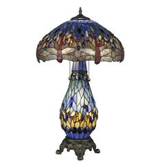 @Overstock - This unique Blue Dragonfly Table Lamp has been handcrafted using methods first developed by Louis Comfort Tiffany.    Shade contains pieces of stained glass, each hand-cut and wrapped in...http://www.overstock.com/Home-Garden/Tiffany-style-Blue-Dragonfly-Table-Lamp-with-Lighted-Base/1497813/product.html?CID=214117 $123.99