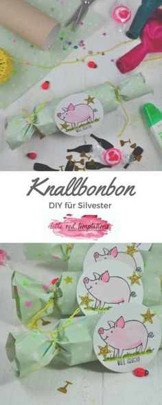 Knallbonbons selber machen - DIY für die Silvesterparty - little.With these crackers you bring mood to the New Year's party. DIY is quick and easy. Depending on the filling, they are wonderful little gifts for children or a Diy Gifts For Kids, Easy Diy Gifts, Sylvester Party, Diy Silvester, Party Silvester, Make Your Own Crackers, Cumpleaños Harry Potter, Saint Valentin Diy, Valentines Day Gifts For Him