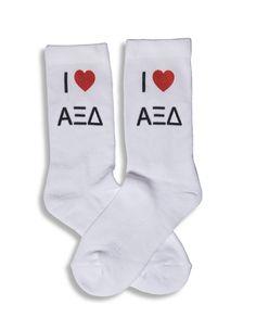 I ♥ Sorority Crew Socks