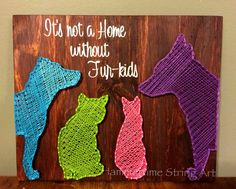 Dogs cats String Art Fur-kids love decor