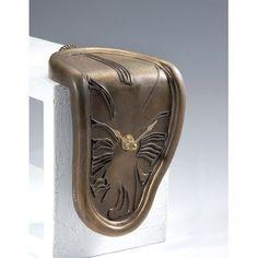 New Haven Melting Bronze Shelf Sitter Clock